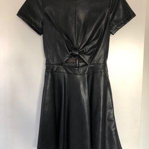Black Bebe pleather dress